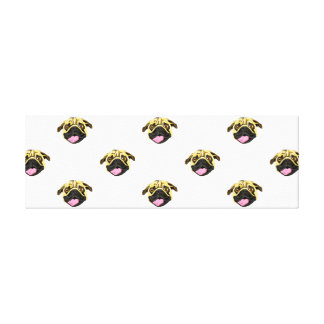 Pug Print Wrapped Canvas