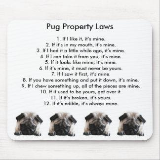 Pug Property Laws Mouse Mat