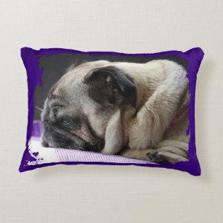 Pug pug - Photography Jean Louis Glineur Decorative Cushion