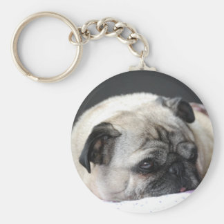 Pug pug - Photography: Jean Louis Glineur Key Ring