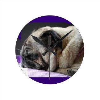 Pug ~ pug ~ Photography Jean Louis Glineur Wallclock