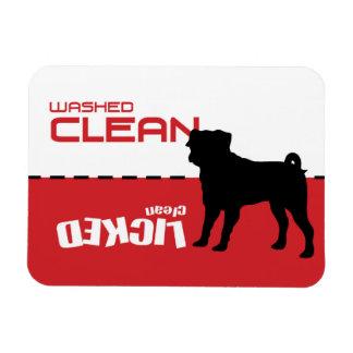 Pug Puggle Dog Dishwasher Magnet - Licked Clean