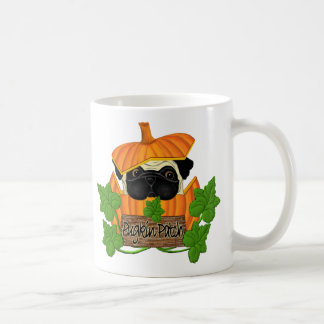 Pug Pumpkin Patch Basic White Mug