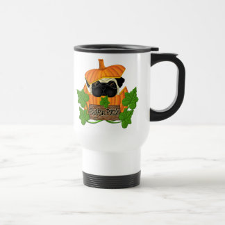 Pug Pumpkin Patch 15 Oz Stainless Steel Travel Mug