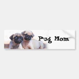 Pug puppies bumper sticker