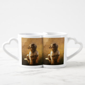 Pug Puppy Coffee Mug Set