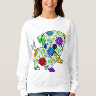 Pug Puppy - Colored Sweatshirt