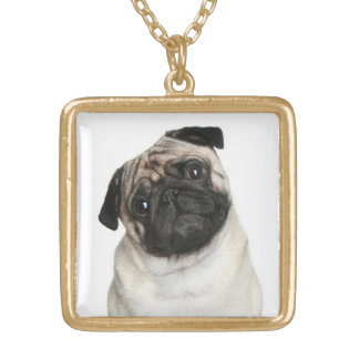 Pug Puppy Dog Pendant Necklace