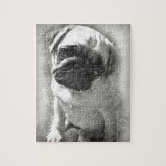 Pug Puppy Dog Sketch Jigsaw Puzzle