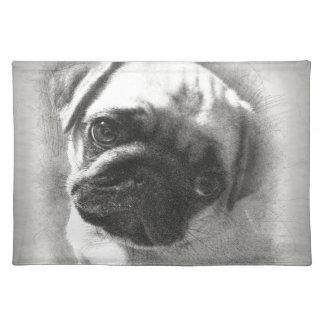 Pug Puppy Dog Sketch Placemat