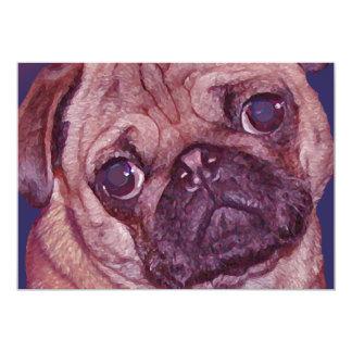 Pug Puppy Face Invitation