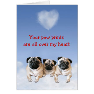 Pug Puppy Love Card