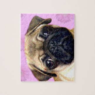 Pug puzzle with tin