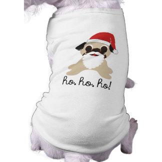 Pug Santa Claus Ho, Ho, Ho! Christmas Dog Shirt