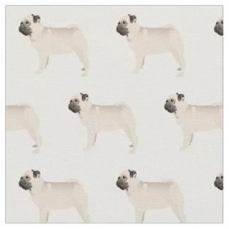 Pug Silhouette Tiled Fabric - Basic