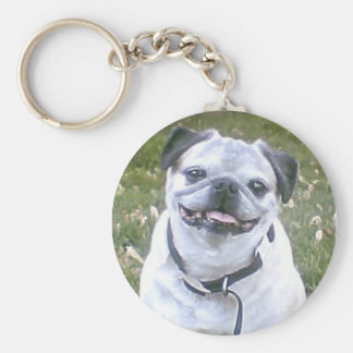Pug Small Dog Keychain