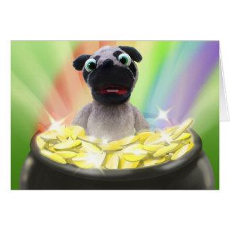 Pug St. Patrick's Day Card