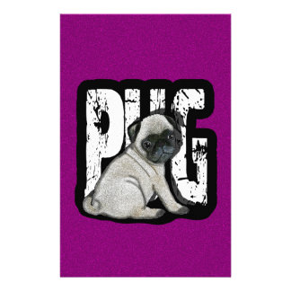 Pug Stationery