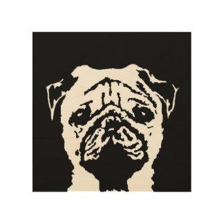 """Pug Stencil Wood 8""""x8"""" Wall Art"""