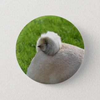 pug tail 6 cm round badge