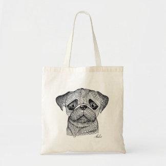 Pug tote canvas bag