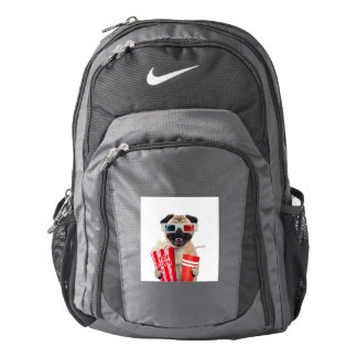 Pug watching a movie backpack
