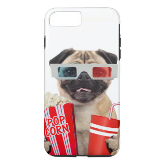 Pug watching a movie iPhone 7 plus case