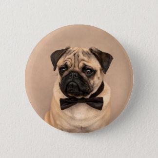 Pug with Bow Tie 6 Cm Round Badge