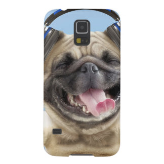 Pug with headphones,pug ,pet galaxy s5 cases