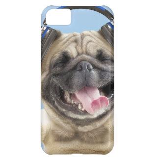 Pug with headphones,pug ,pet iPhone 5C case