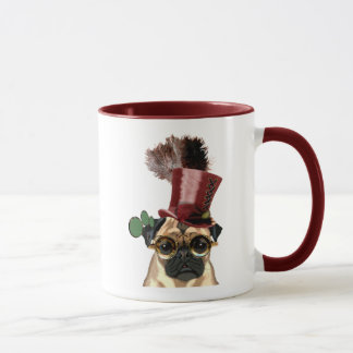 Pug with Steampunk Style Top Hat Mug