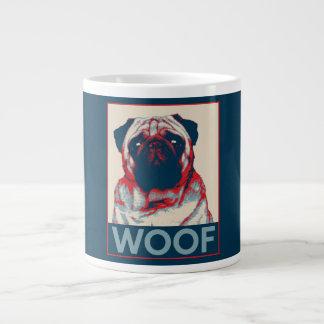 Pug Woof Retro Hope Poster Large Coffee Mug