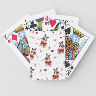 Pug Xmas Pattern Bicycle Playing Cards