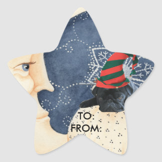 Pug You To The Moon! Star Sticker