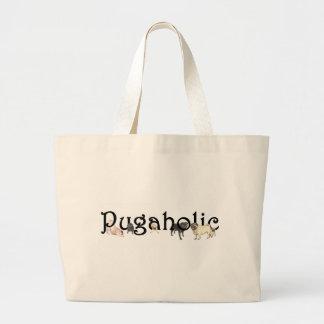 Pugaholic Large Tote Bag