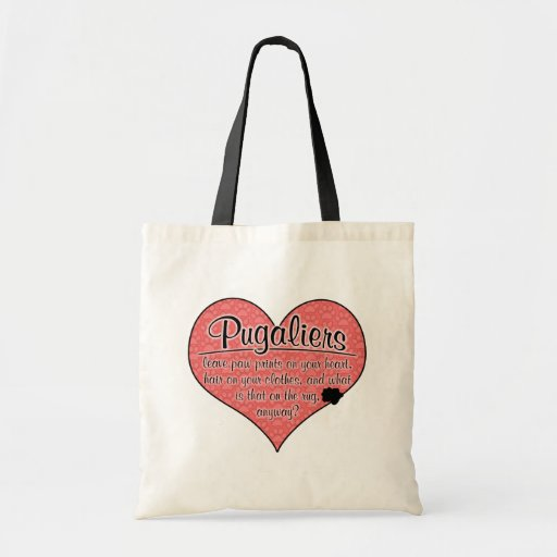 Pugalier Paw Prints Dog Humor Canvas Bags