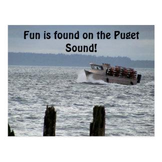 Puget Sound Crab Boat Seattle Washington Postcard