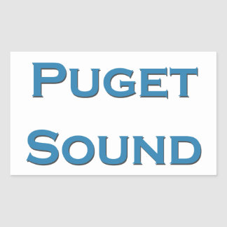 Puget Sound Rectangular Sticker