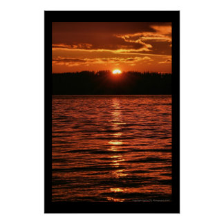 Puget Sound Sunset Poster