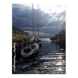 Puget Sound Waterfront Seattle Washington Postcard