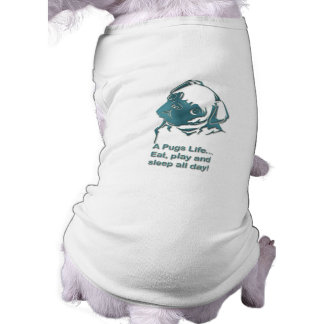 Puggie Ribbed Tank Top Sleeveless Dog Shirt