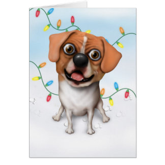 Puggle - Christmas Card