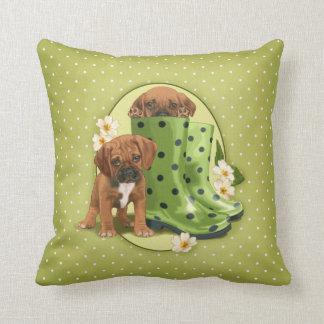 Puggle in boots cushion
