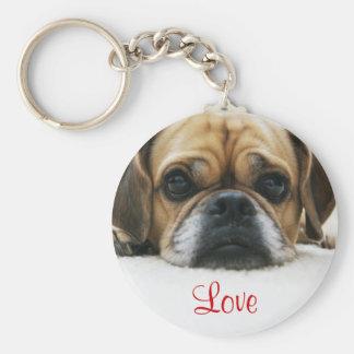 Puggle Love Keychain