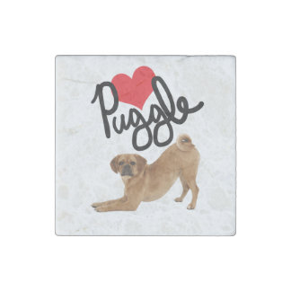 Puggle Love Stone Magnet | by Mini Brothers