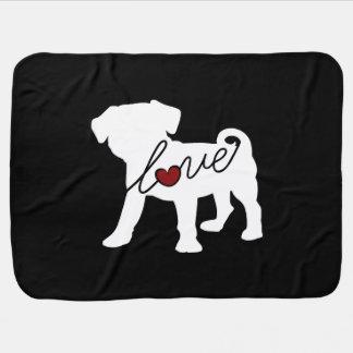 Puggle (Pug / Beagle) Love Baby Blanket