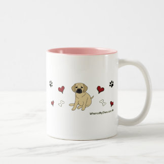 Puggle Two-Tone Coffee Mug