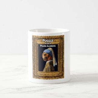 Puggle with a Pearl Earring Mug