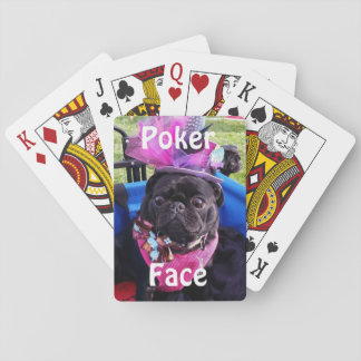 "Puggy ""Poker Face"" Playing Cards"