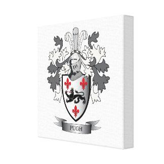 Pugh Family Crest Coat of Arms Canvas Print